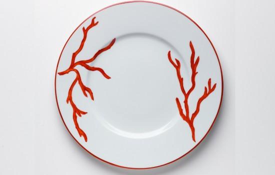 Corail Plat Orange - Orange Coral Round Plate