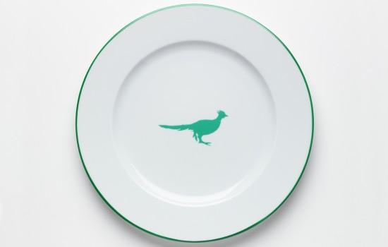 Chasse-Assiette-Faisant-Vert---Green-Hunting-Dinner-Plate