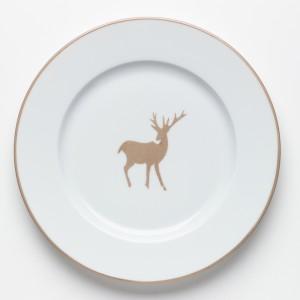 Chasse-Petite-Assiette-Cerf-Beige---Beige-Hunting-Dessert-Plate