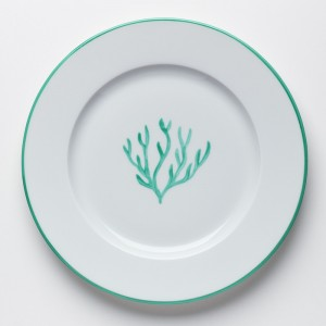 Corail Petite Assiette Vert - Green Coral Dessert Plate