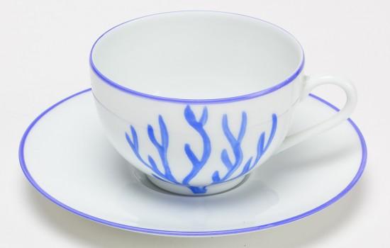 Corail Tasse à thé Bleu - Blue Coral Tea Cup