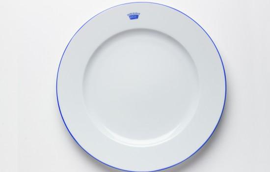 Couronnes Assiette Bleu - Blue Crown Dinner Plate