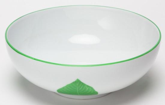 Feuilles Saladier Figuier des Pagodes Vert - Green Leaf of Sheet pagodas Salad Bowl