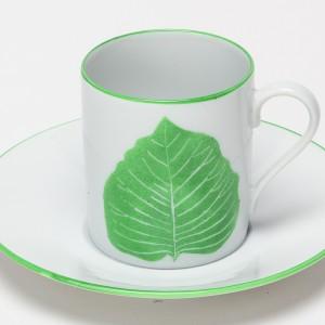Feuilles Tasse à Café Prunier des Pagodes Vert - Green Leaf of Sheet pagodas Coffee Cup