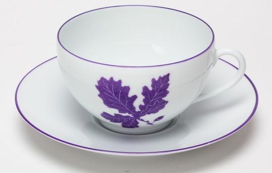 Feuilles Tasse à Thé Chene Violet - Purple Oak leaf Tea Cup