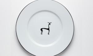 Round platter Gazelle (32cm)