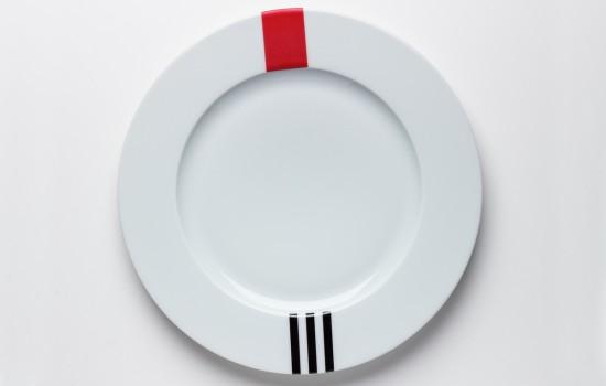 Rouge & Noir Assiette - Red & Black Dinner Plate