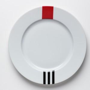 Rouge & Noir Petite Assiette - Red & Black  Dessert Plate