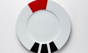 Plat rond Rouge & Noir (32cm)