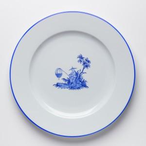 Shanghai Assiette Bleu - Blue Shanghai Dinner Plate