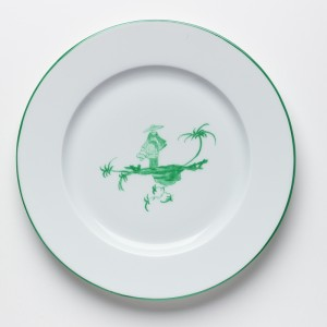 Shanghai Petite Assiette Vert - Green Shanghai Dessert plate