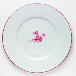 Shanghai Plat Rose - Pink Shanghai Round Plate