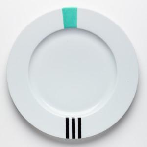 Turquoise & Noir Assiette - Turquoise & Black  Dinner Plate