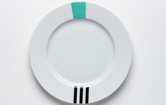 Turquoise & Noir Petite Assiette - Turquoise & Black  Dessert Plate