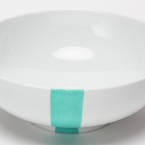 Turquoise & Noir Saladier - Turquoise & Black  Salad Bowl