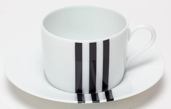 Turquoise & Noir Tasse à Petit Dej - Turquoise & Black  Breakfast Cup