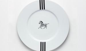 Round platter Zebra (32cm)