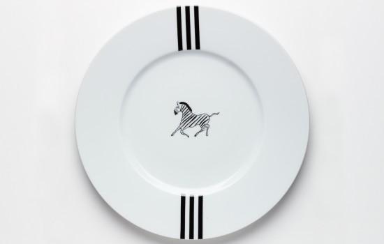 Zèbre Plat - Zebra Dinner Plate