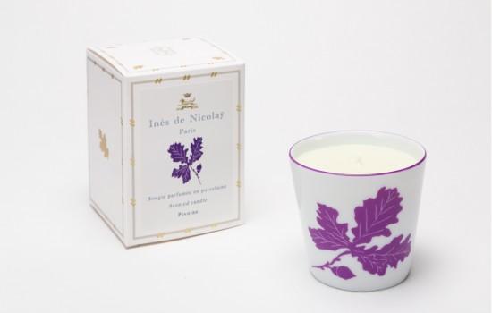 Bougies Feuilles de Cheine Violet - Scented Candels Purple Oak Leave