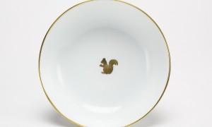 Assiette à bouillie Ecureuil