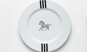 Diner plate Zebra