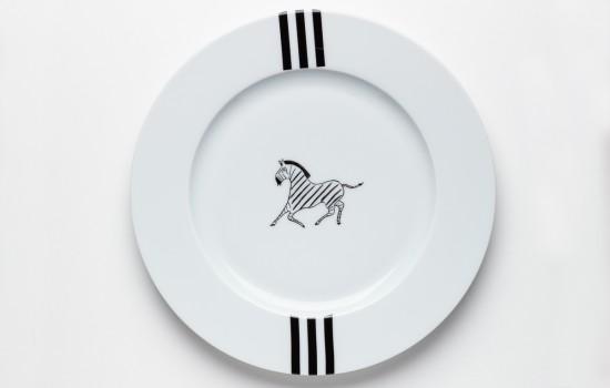 Zèbre Assiette - Zebra  Dinner Plate