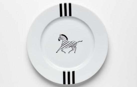 Zèbre Petite Assiette Zebra Dessert Plate